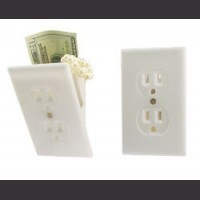 Deluxe Wall Outlet Safe