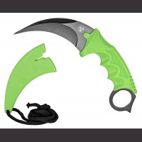 "7"" Zombie Kerambit Neck Knife"
