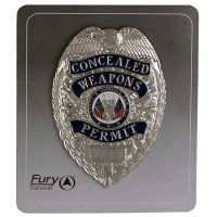 Silver Concealed Weapon Badge