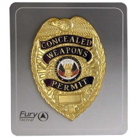 Gold Concealed Weapons Badge
